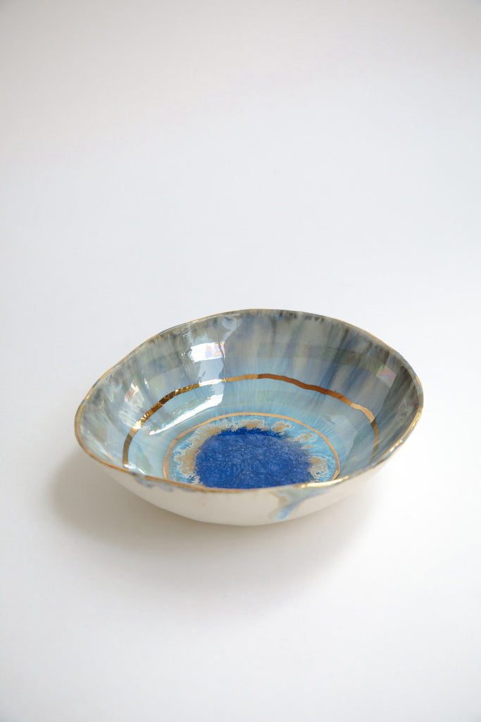 Medium Iceland Blue Lagoon Bowl by Minh Singer