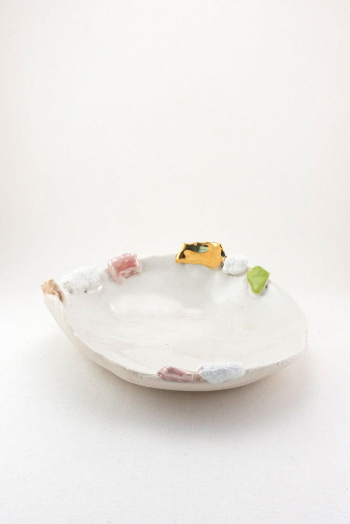 Extra Small Sakura Dish with Gold by Minh Singer at Abacus Row