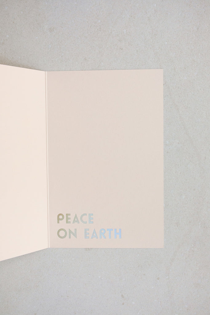 Dove Card Peace on Earth Interior by NOAT
