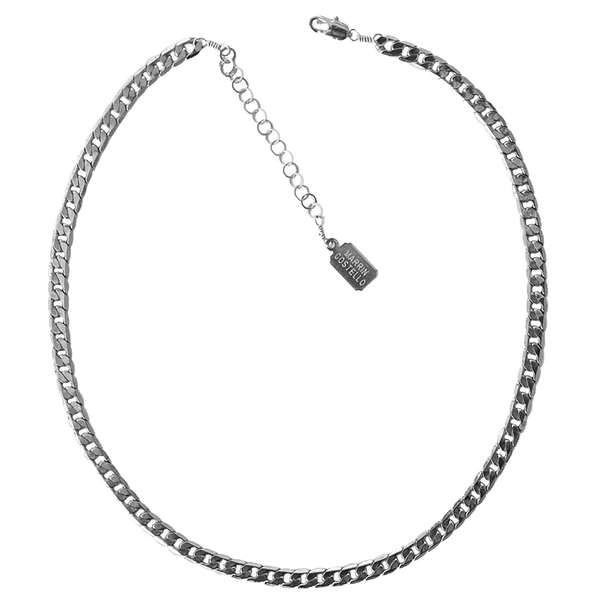 Callie Choker - Classic Collection by MARRIN COSTELLO (silver, Cuban Link chain)
