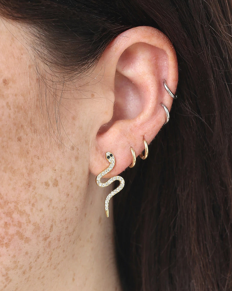 SERPENT STUDS — gold