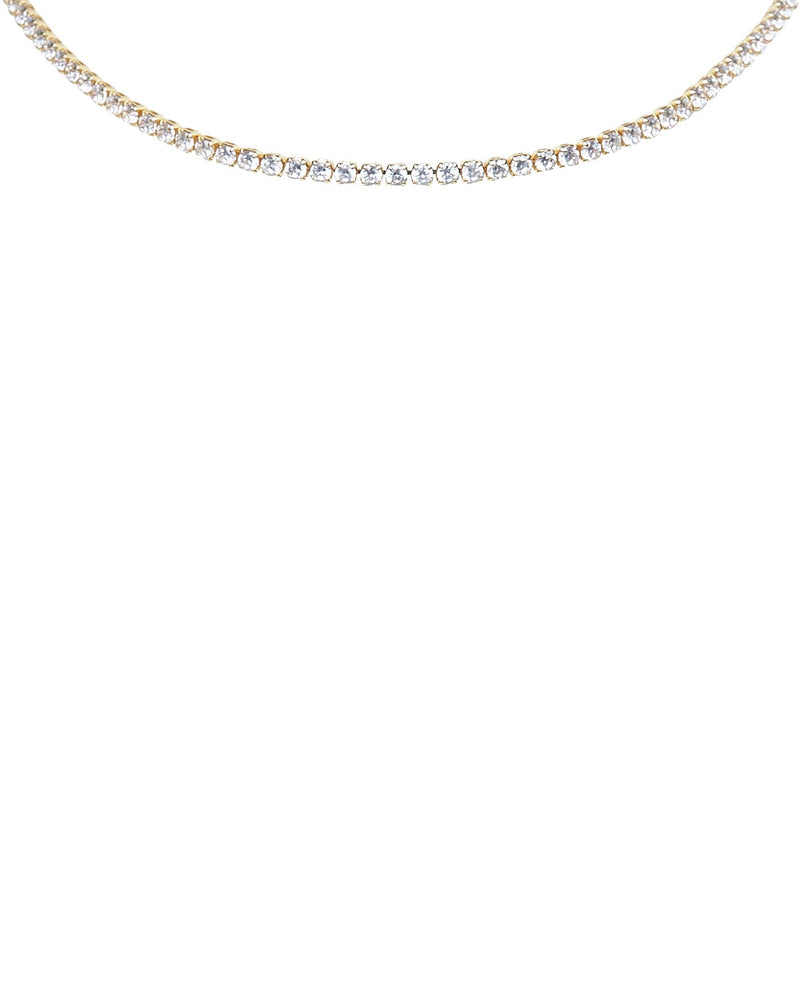 TENNIS CHOKER — gold