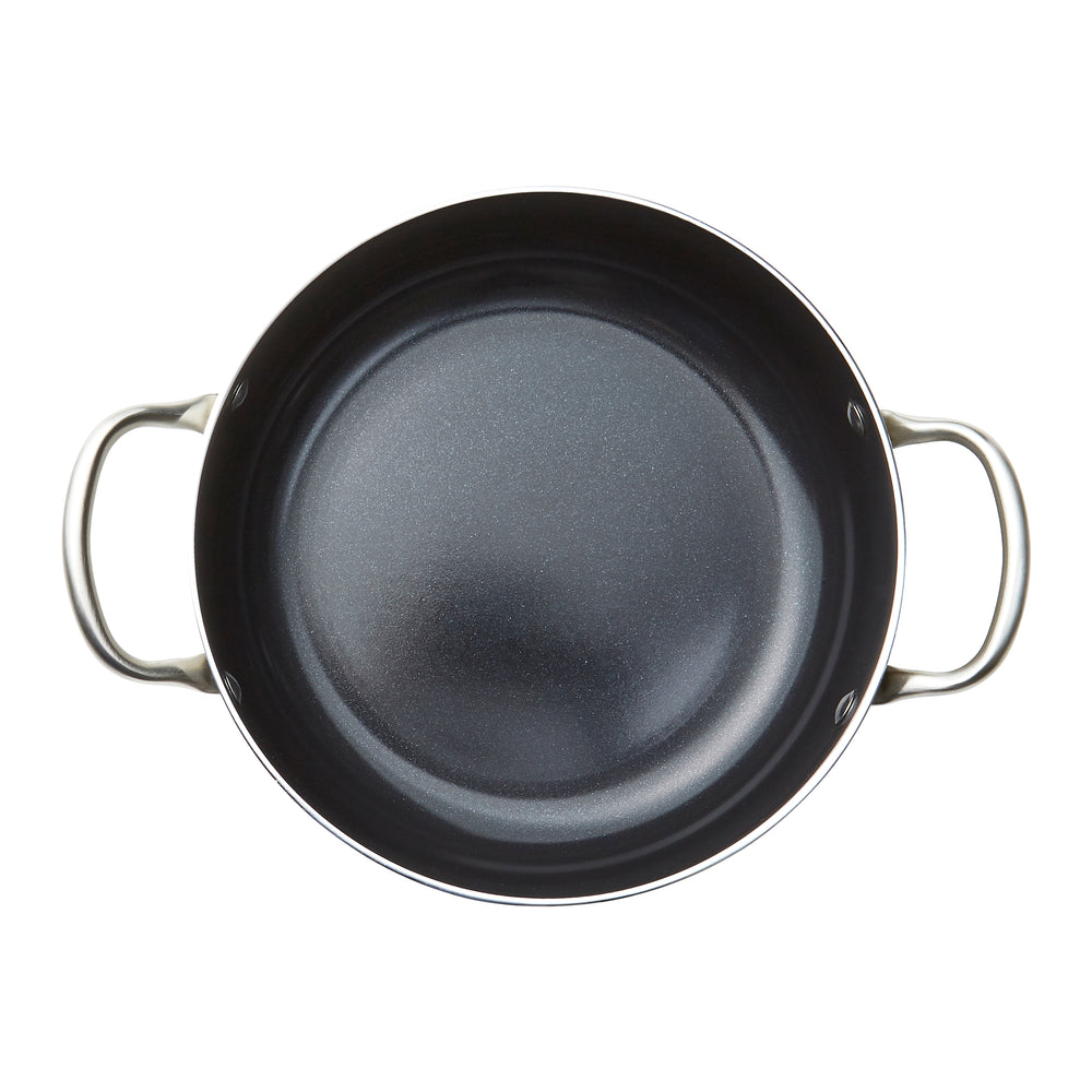 Stainless Steel 4.4 QT Black Casserole
