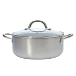 Stainless Steel 4.4 QT Black Casserole (PC-032-001)