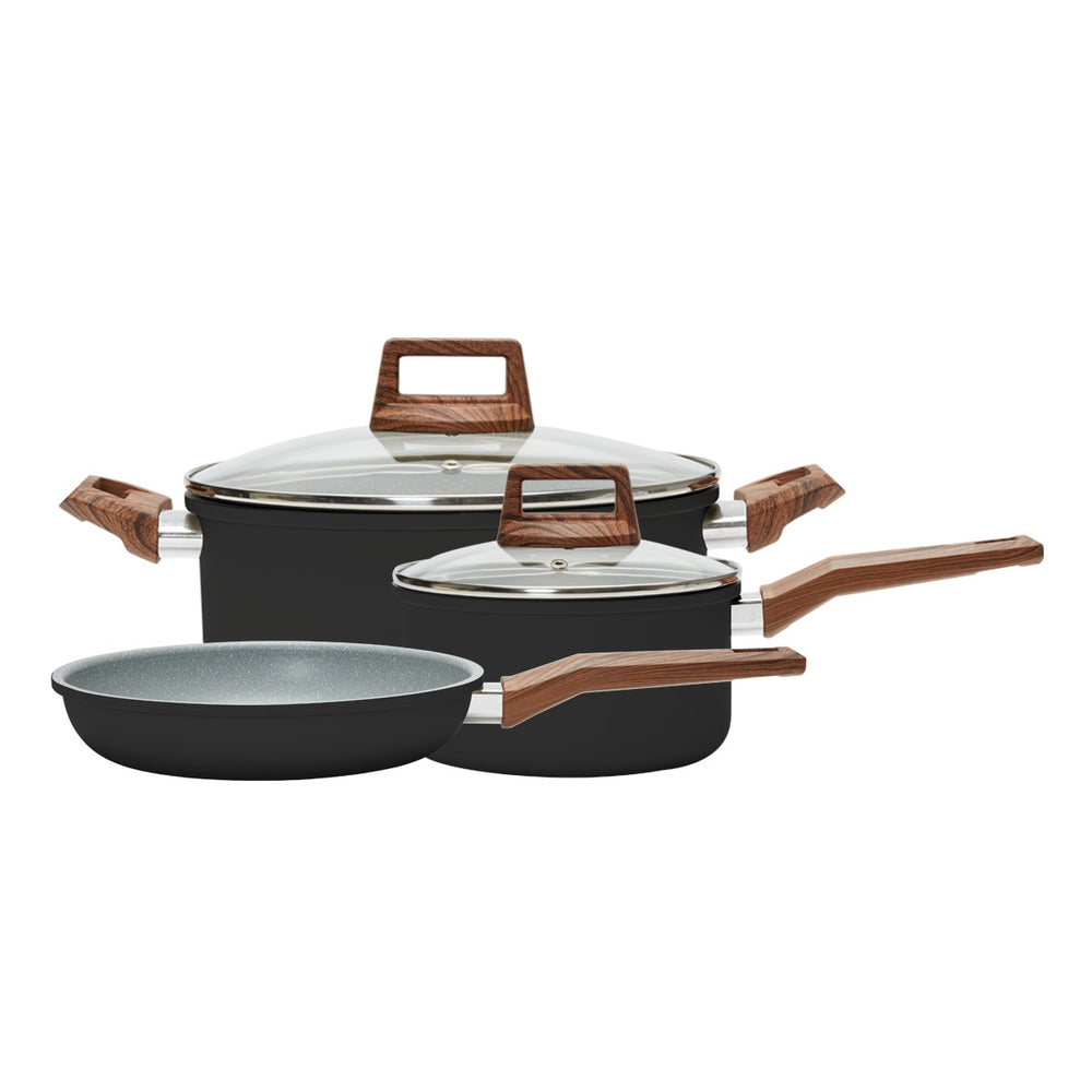 5 Piece Cookware Set- Black