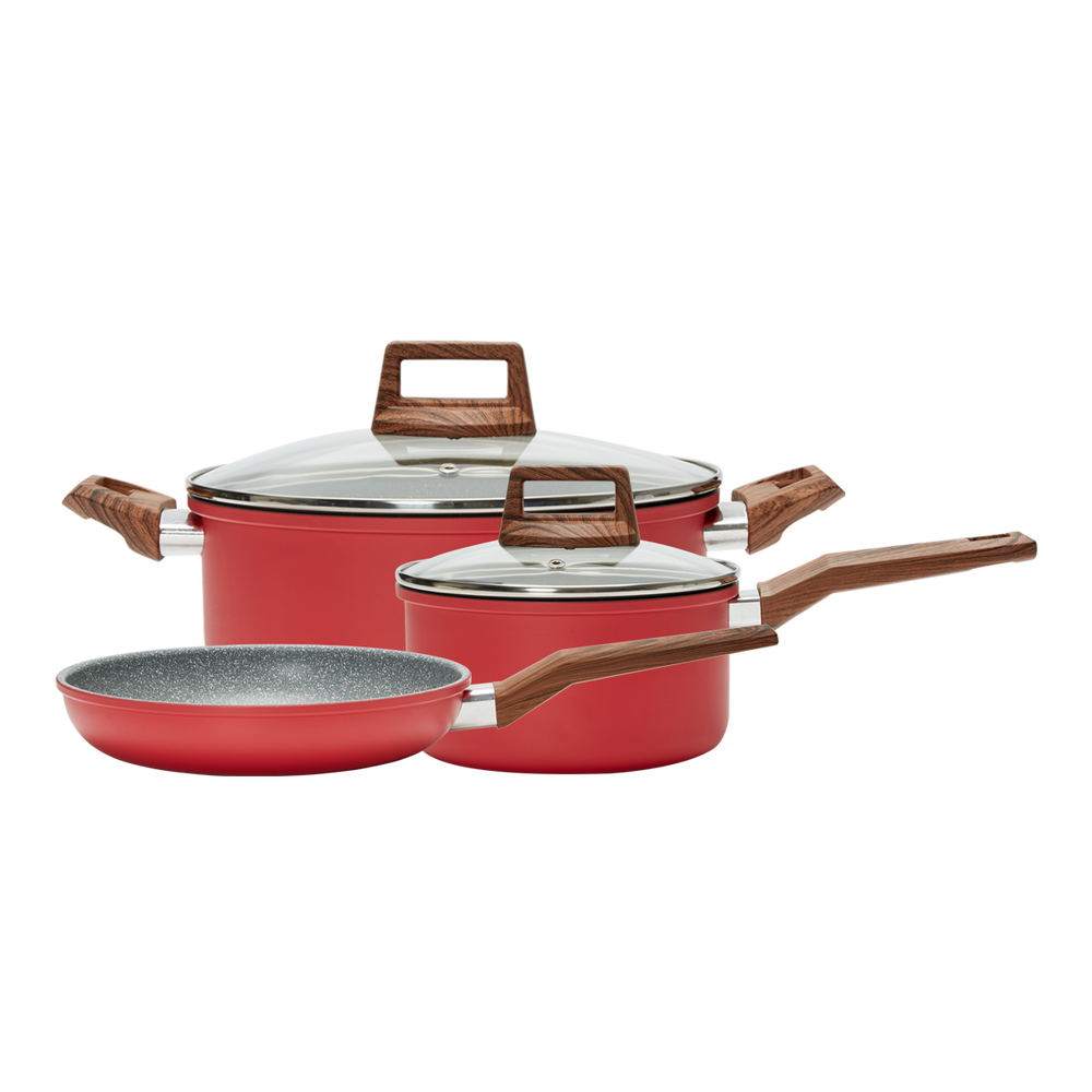 5 Piece Cookware Set- Red (PC-034-600)