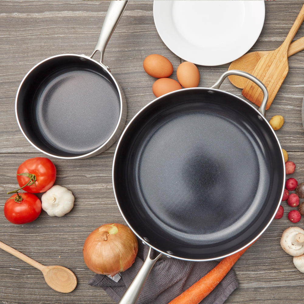 Stainless Steel 1.8 QT Black Sauce Pan