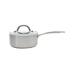 Stainless Steel 1.8 QT Grey Marble Sauce Pan