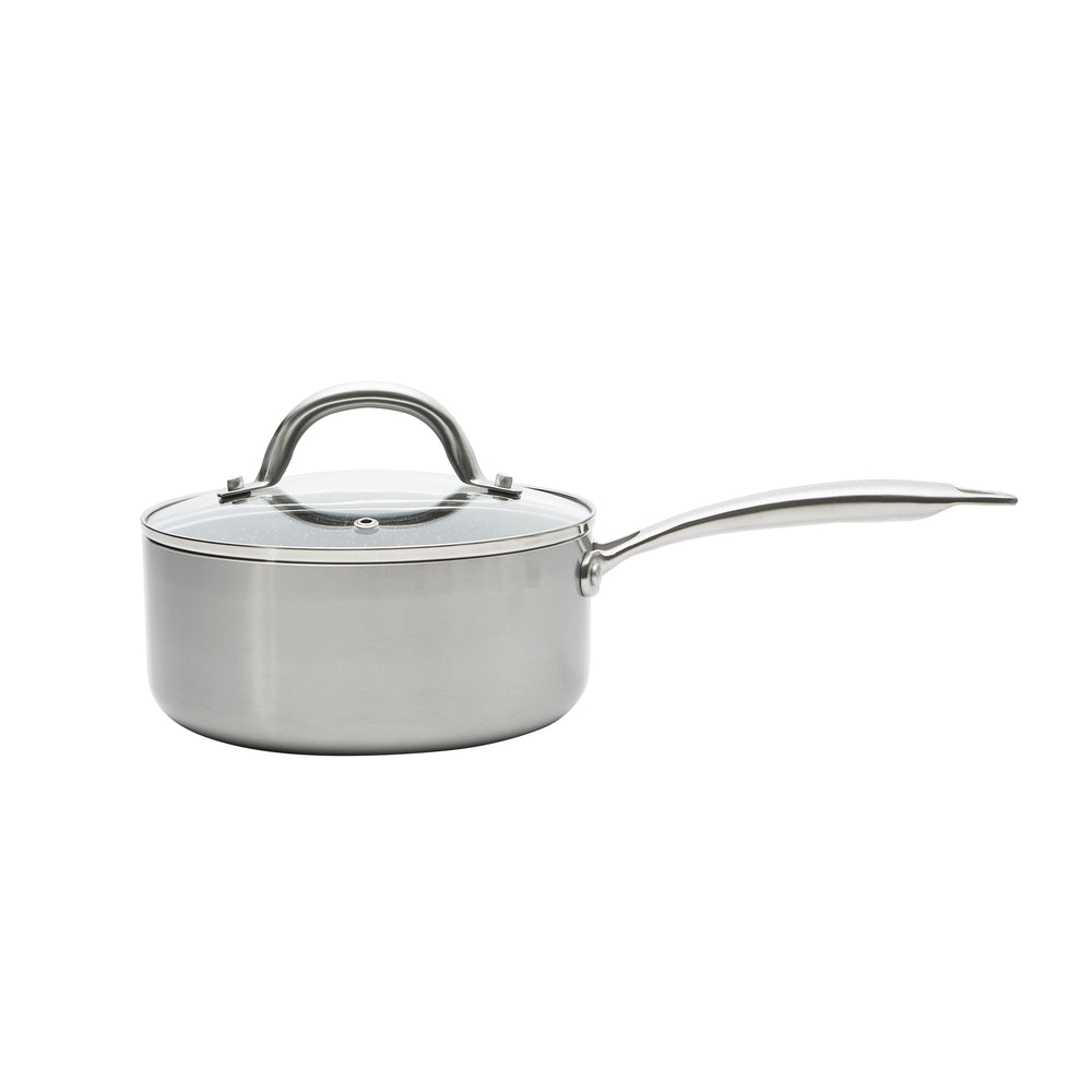 Stainless Steel 1.8 QT Black Sauce Pan (PC-031-001)