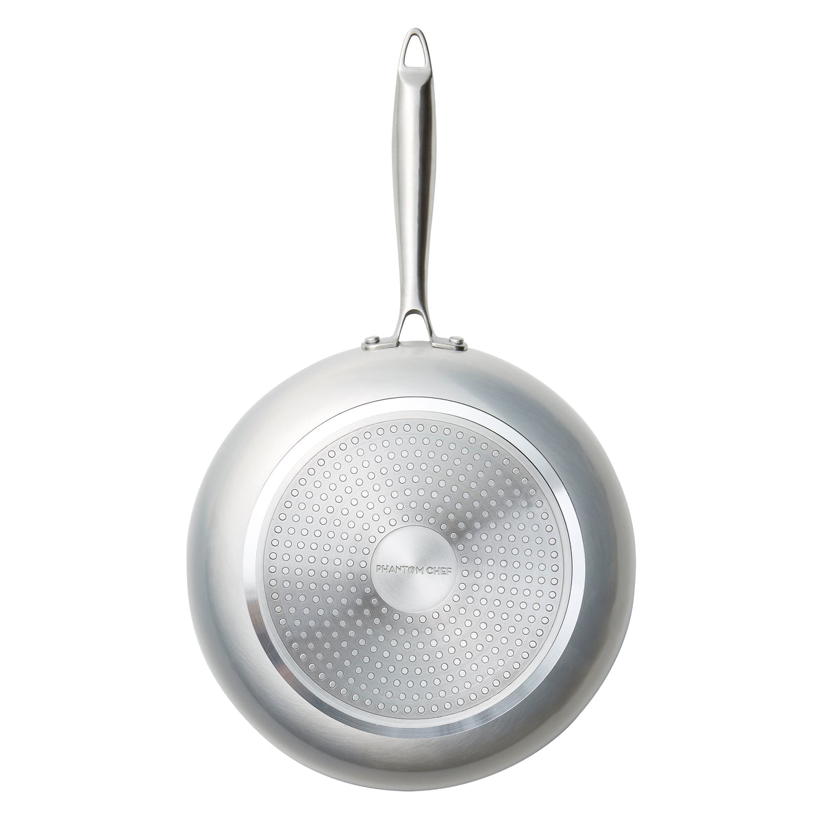 Stainless Steel Grey Marble Fry Pan - Back
