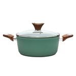 Wood Handle 4.4 QT Green Casserole (PC-015-300)