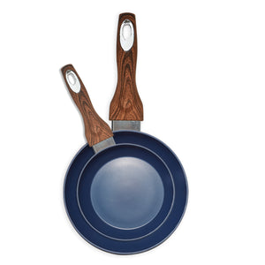 "Wood Handle 8"" & 11"" Navy Fry Pan Combo Pack"