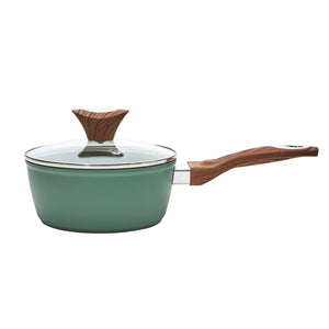 Wood Handle 1.8 QT Green Saucepan (PC-014-300)