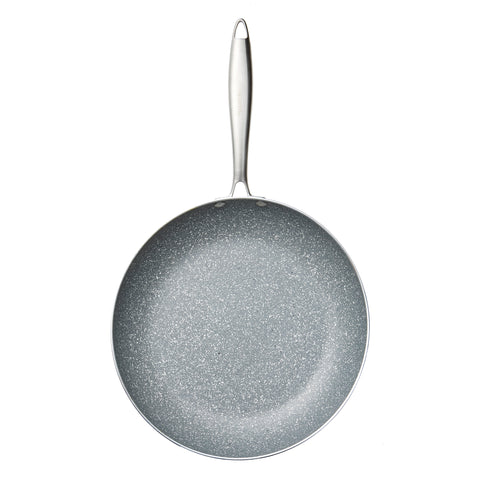 Stainless Steel Grey Marble Fry Pan