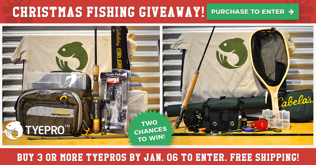 We're Giving Away 2 Great Fishing Packages for Christmas! Treat Yourself!