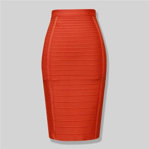 Brand Nerw Sexy Fashion Red Black Bandage Pencil Skirt New Arrival 2016liilgal-liilgal