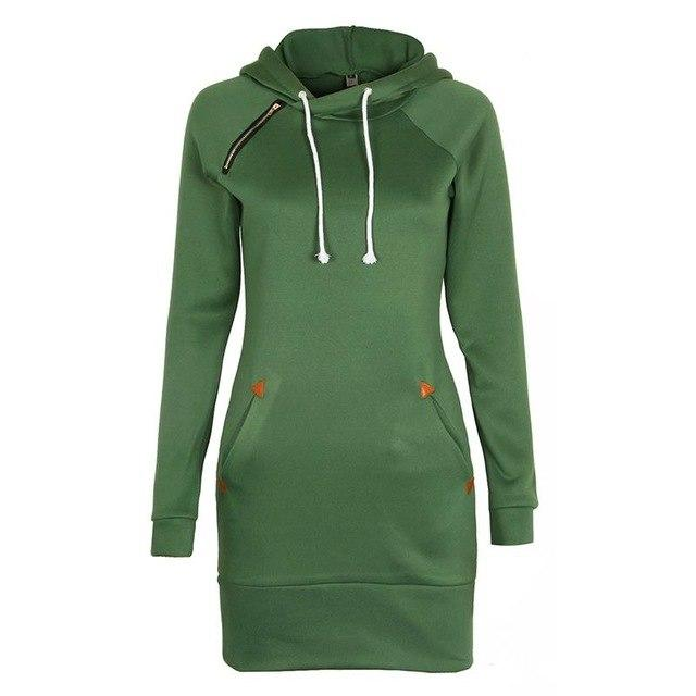 Women Fashion Hoodies Sweatshirt Long Sleeve Zip Sweatshirts Feminino Winter Moleton Pulloversliilgal-liilgal