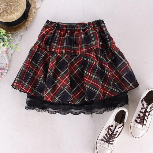 8 colors High quality school uniform skirt fashion plaid short skirt pleatedliilgal-liilgal