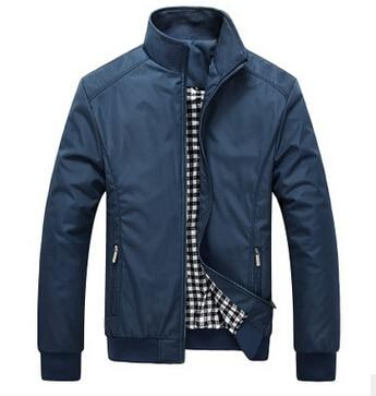 Men's Jacket Spring Autumn Overcoat 2016 Middle Aged Men Fashion Stand Collarliilgal-liilgal