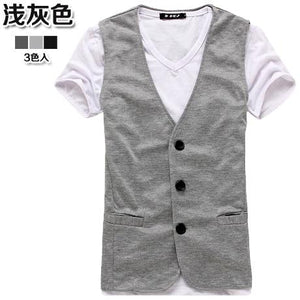 Male knitted vest fashion men casual blazer vestsliilgal-liilgal