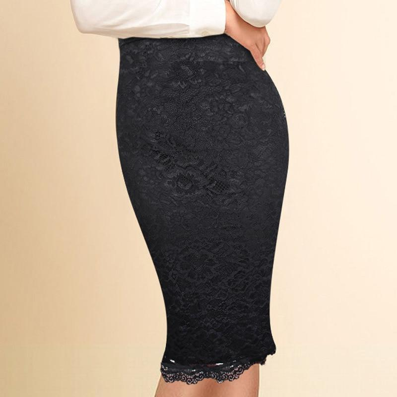 Women Elegant Floral Lace High Waist Wear to Work Office Partyliilgal-liilgal