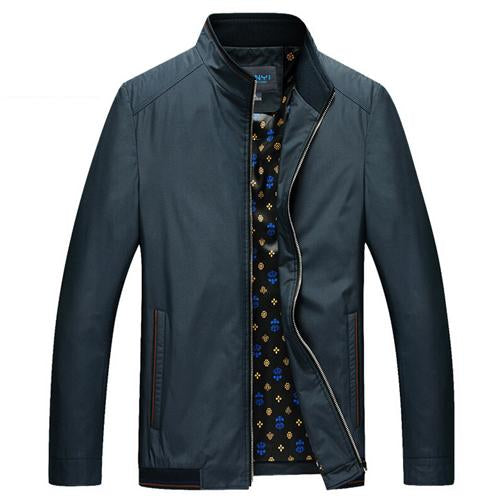 Brand New Men Jacket Male Casual Slim Fit Mandarin Collar Solid Jacketsliilgal-liilgal