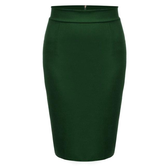 Autumn Skirt 2017 Skirts Women Saia OL Office Skirt Knee Length Highliilgal-liilgal