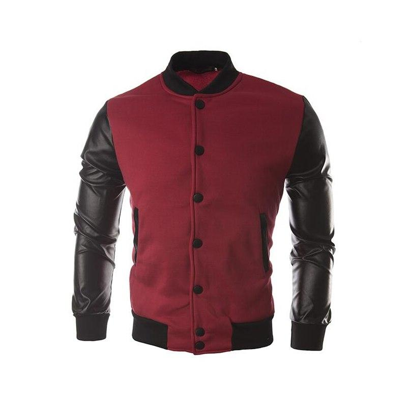 Fashion Plus Size Jacket For Men New Autumn Long Sleeve Men Baseballliilgal-liilgal