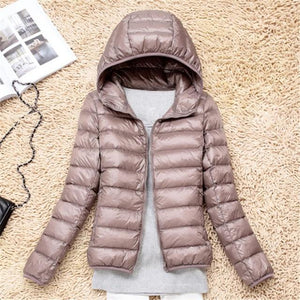 Women Ultra Light Down Jacket Hooded 90% Winter Duck Down Jacketsliilgal-liilgal