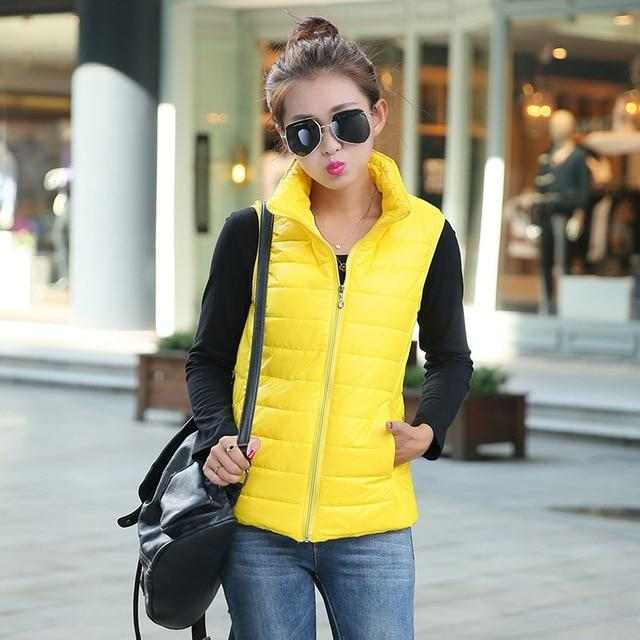 Winter Women Vest 2017 New Female Hooded Autumn Sleeveless Winter Down Jacketsliilgal-liilgal
