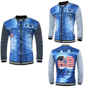 Men jackets Baseball collar printing new fashion men s 3D sweaters  long-sleevedliilgal bd6e04d67