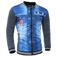Men jackets Baseball collar printing new fashion men's 3D sweaters long-sleevedliilgal-liilgal