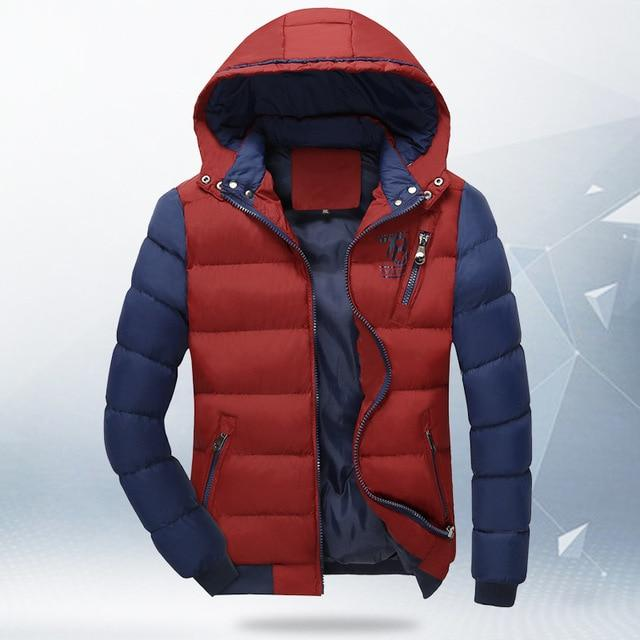 Fashion 2017 New Winter 4XL Jacket Men's Parkas Thick Hooded Coats Menliilgal-liilgal