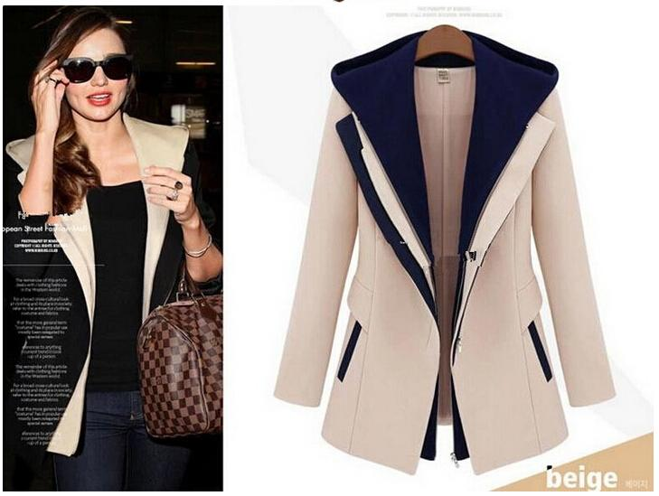 EAS Women jacket 2016 Fashion Street casacos femininos coat Women Slim Fauxliilgal-liilgal