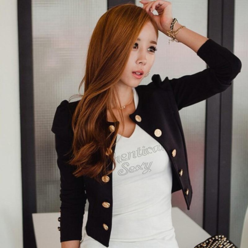 Women's Fashion Jacket Coat Outwear Sexy Double Breasted three quarter Sleeve Shortliilgal-liilgal