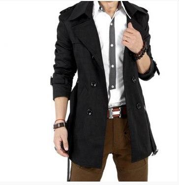 2016 Autumn Trench Coat Men Double Breasted Trench Coat Men Outerwear Casualliilgal-liilgal