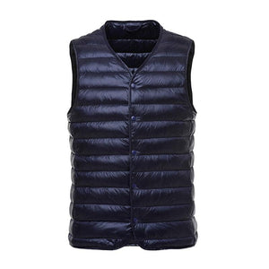 2017 Winter White duck down vest men Ultra Light 90% Duck Downliilgal-liilgal