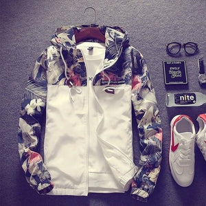 Hirigin Jackets Men Hooded Bomber Jacket American Fleece Zip Up Hoody Jacketliilgal-liilgal