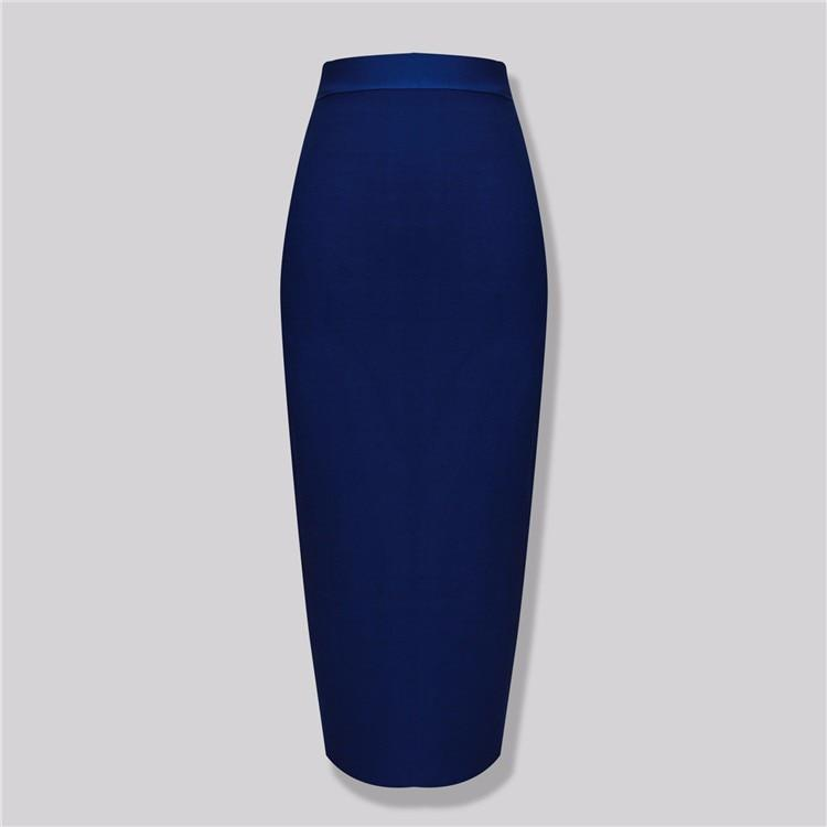 Hot Selling Sexy Beige Black Blue Knee Length Bandage Skirt 2016 Knittedliilgal-liilgal