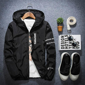 New Spring Autumn Bomber Windbreaker Jacket Men Casual Slim Male Hooded Thinliilgal-liilgal