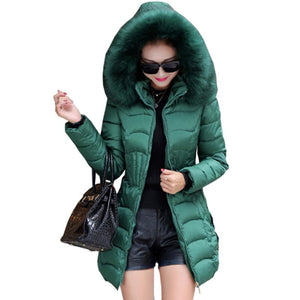 New 2018 autumn winter warm coat padded short female Slim thin jacketsliilgal-liilgal