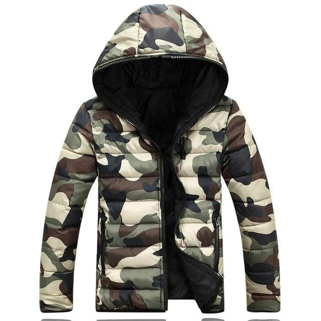 2017 brand men's clothing winter jacket with a hood Outerwear warm coatliilgal-liilgal