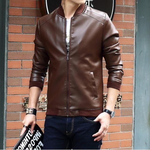 2017 New Arrival Leather Jackets Men's jacket male Outwear Men's Coats Springliilgal-liilgal