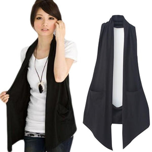 New Spring 2018 Women's All-match Slim Black Colete Vest Women Casual Waistcoatliilgal-liilgal