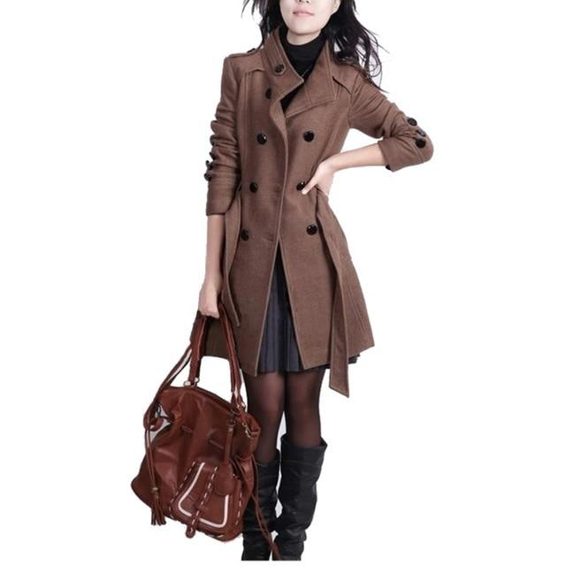 Winter Women Coat Long Slim Casual Warm Fashion Windbreaker Outerwear Jacketliilgal-liilgal