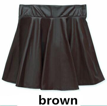 Free ship New 2018 Russia Fashion Polyester artificial leather Skirt Women Vintageliilgal-liilgal