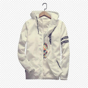 2018 New Men Thin White Jacket Hooded Comfortable Yong Men Boy Casualliilgal-liilgal