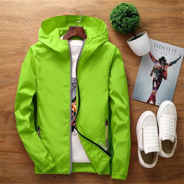 Reflective jacket windbreaker men women jaqueta masculina college jackets White red blueliilgal-liilgal