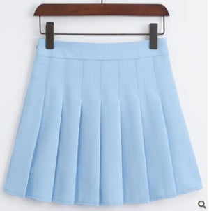 summer new A-line high waist pleated skirt college wind skirtliilgal-liilgal