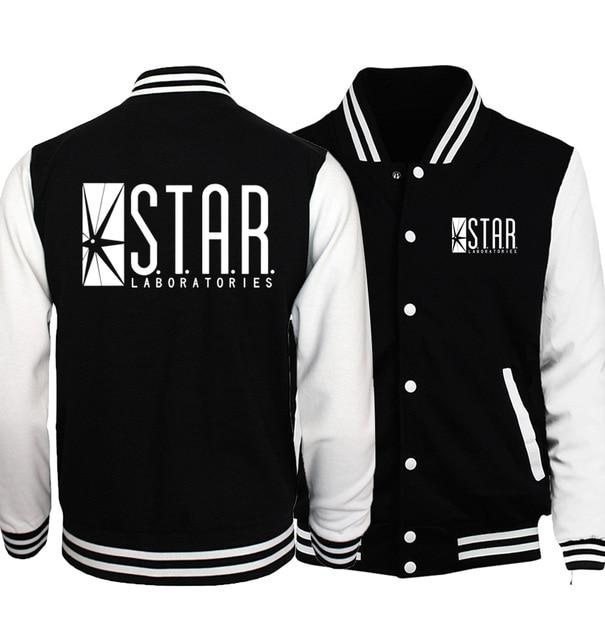The Flasher Star S.T.A.R. Labs Baseball Jackets Men 2018 Spring New Hoodiesliilgal-liilgal